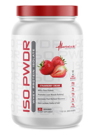 Metabolic Nutrition ISO PWDR Strawberry Cream - 23 Servings