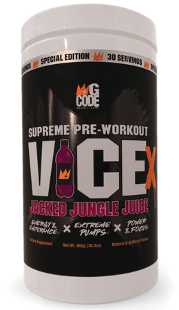 G Code Nutrition Vice Jacked Pre Workout  Jungle Juice - 30 Servings