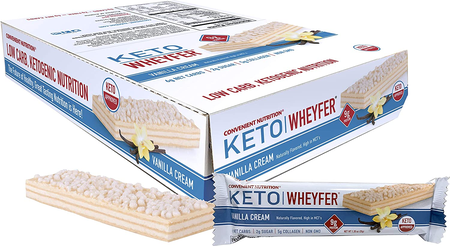 Convenient Nutrition Keto Wheyfer Bars Vanilla Cream - 10 Bars