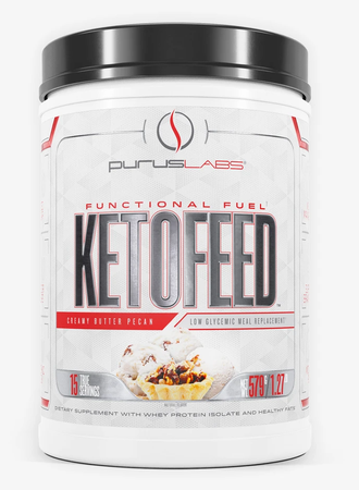 Purus Labs KetoFeed Protein Creamy Butter Pecan - 15 Servings