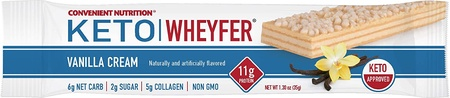 Convenient Nutrition Keto Wheyfer Bars Vanilla Cream - 10 Bars