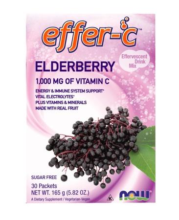 Now Foods Effer-c Elderberry - 30 Packs