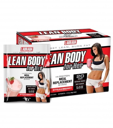 Labrada Lean Body For Her Strawberry - 20 Pack