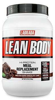 Labrada Lean Body Hi-Protein Meal Replacement Shake MRP Molten Dark Chocolate Cake - 2.47 Lb