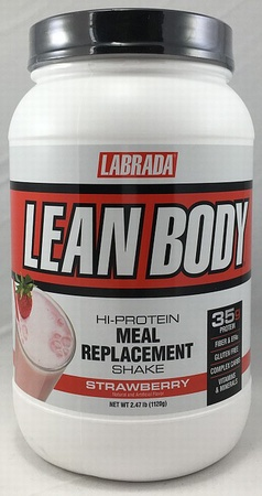 Labrada Lean Body Hi-Protein Meal Replacement Shake MRP Strawberry - 2.47 Lb