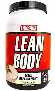 Labrada Lean Body Hi-Protein Meal Replacement Shake MRP Vanilla - 2.47 Lb