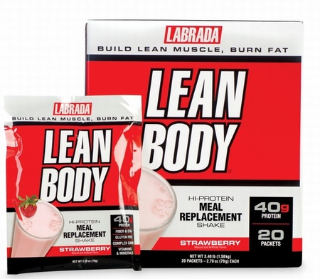 Labrada Lean Body Packs Strawberry - 20 Pack