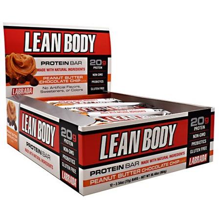 Labrada Lean Body Protein Bar Peanut Butter Chocolate Chip - 12 Bars