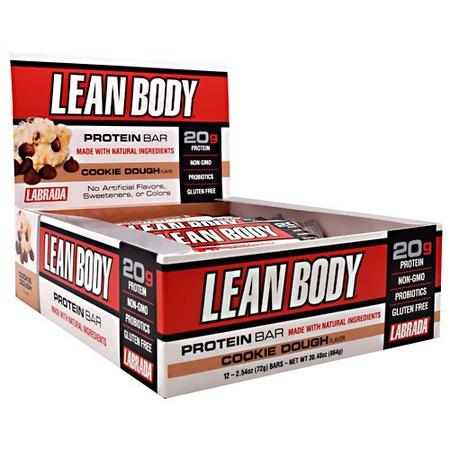 Labrada Lean Body Protein Bar Cookie Dough - 12 Bars
