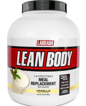 Labrada Lean Body Hi-Protein Meal Replacement Shake MRP Vanilla - 4.6 Lb (30 Servings)