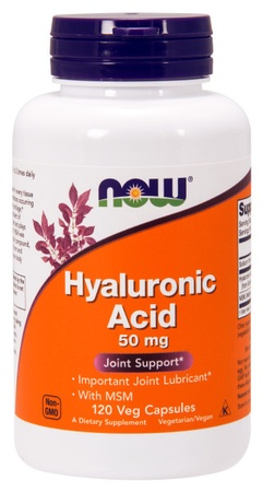 Now Foods Hyaluronic Acid 50mg & MSM - 120 VCap