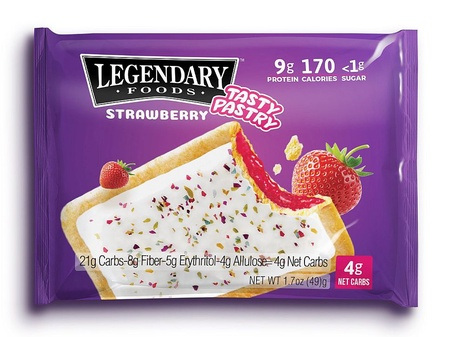 Legendary Foods Tasty Pastry Toaster Pastries Strawberry - 14 Pastries ($26.99 w/coupon code DPS10)