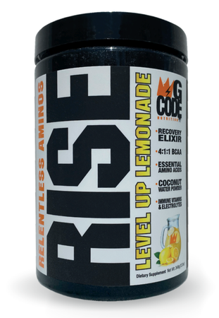 GCode Nutrition RISE Relentless Aminos Level Up Lemonade - 30 Servings