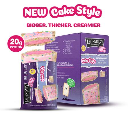 Legendary Foods Tasty Pastry Toaster Pastries Birthday Cake - 12 Pastries