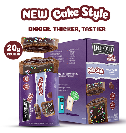 Legendary Foods Tasty Pastry Toaster Pastries Chocolate Cake - 12 Pastries
