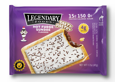 Legendary Foods Tasty Pastry Toaster Pastries Hot Fudge Sundae - 14 Pastries ($26.99 w/coupon code DPS10)