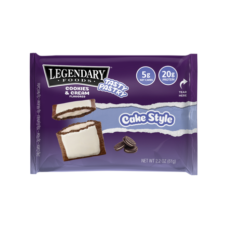 Legendary Foods Tasty Pastry Toaster Pastries Cookies & Cream - 12 Pastries