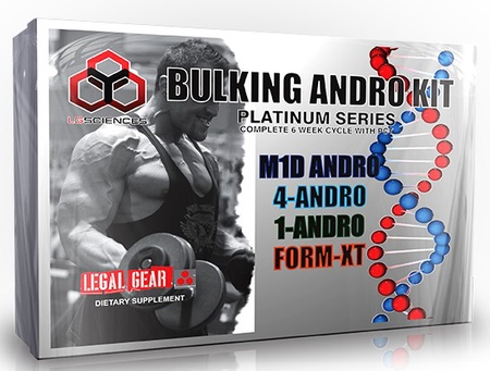 LG Sciences Bulking Andro Kit - 4 Bottles