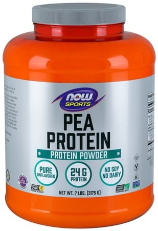 Now Foods Pea Protein Non-GMO Natural Unflavored - 7 Lb