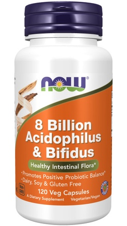 Now Foods Acidopholis & Bifidus - 8 Billion - 120 Cap