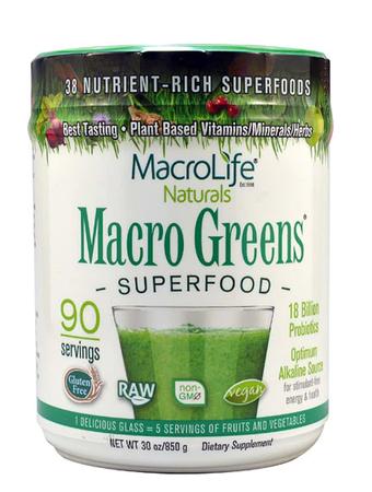 Macro Life Naturals Macro Greens Superfood - 30 oz (90 Servings)