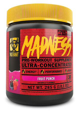 Mutant Madness Pre Workout Fruit Punch - 30 Servings