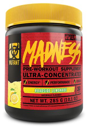 Mutant Madness Pre Workout Roadside Lemonade - 30 Servings