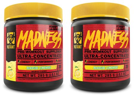 Mutant Madness Pre Workout Roadside Lemonade TWINPACK - 2 x 30 Serv Btls ($29.99 For 2 BTLS w/DPS10 Coupon code)