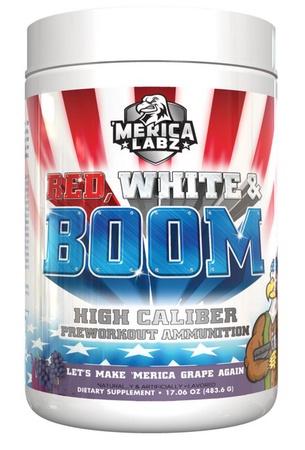 Merica Labz Red, White & Boom Pre Workout Make America Grape Again - 20 Servings