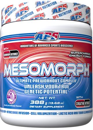 APS Mesomorph Grape - 25 Servings  *New Formula (Buy 2 or more at $37.50 each w/DPS10 code)
