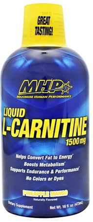 MHP L-Carnitine Liquid 1500 Mg Pineapple Mango - 30 Servings