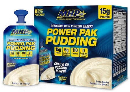 MHP Power Pack Pudding Vanilla Cream - 6 Pouches