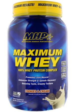 MHP Maximum Whey Cookies & Cream - 2 Lb   *expiration date 7/21