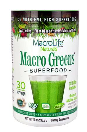 Macro Life Naturals Macro Greens Superfood - 10 oz (30 Servings)