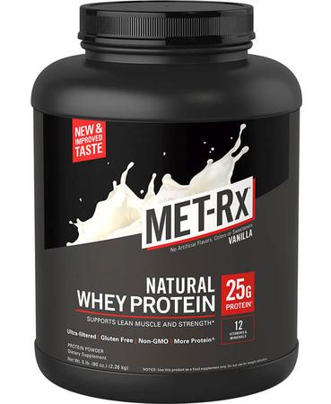 Met-Rx Natural Whey Protein Vanilla - 5 Lb