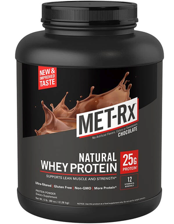 Met-Rx Natural Whey Protein Chocolate - 5 Lb