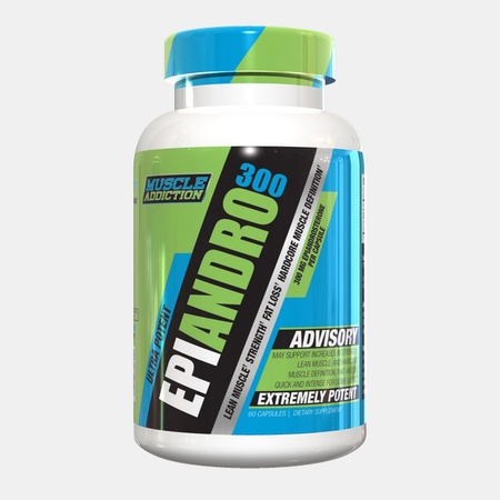 Muscle Addiction EpiAndro 300 - 60 Cap (300 mg Epiandrosterone per cap)