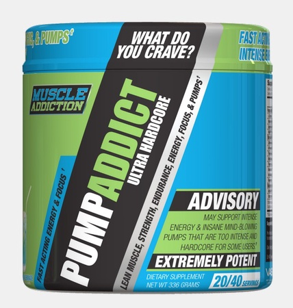 Muscle Addiction Pump Addict Ultra Hardcore  Candy Explosion - 20 - 40 Servings ($25.99 w/DPS10 code)