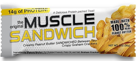 Muscle Sandwich Bars Peanut Butter Graham Cracker - 12 Bars