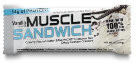 Muscle Sandwich Bars Vanilla - 12 Bars