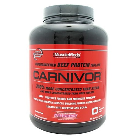 MuscleMeds Carnivor Beef Protein  Strawberry - 56 Servings