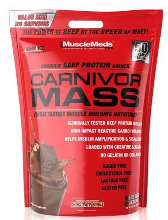 MuscleMeds Carnivor Mass Chocolate Fudge - 10 Lb