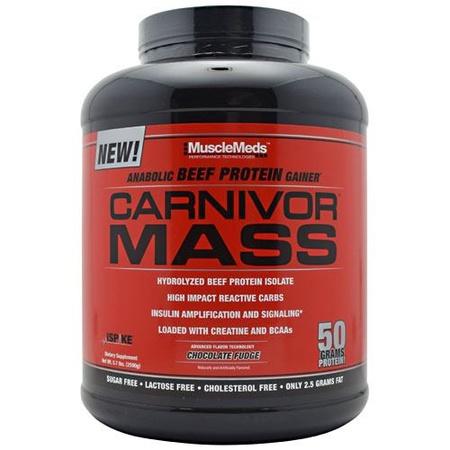MuscleMeds Carnivor Mass Chocolate Fudge - 5.7 Lb
