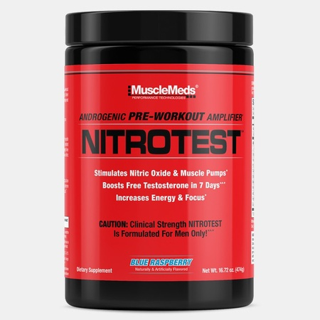 MuscleMeds Nitrotest Preworkout Blue Raspberry - 30 Servings