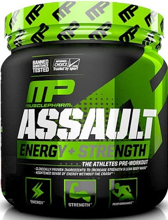 MusclePharm Assault Sport Strawberry - 30 Servings (20% Off use code DPS10)