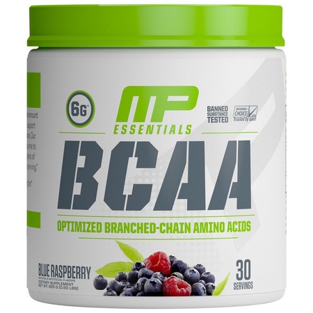 MusclePharm BCAA Essentials Blue Raspberry - 30 Servings (20% Off use code DPS10)