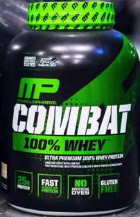 MusclePharm Combat 100% Whey Protein Vanilla - 5 Lb (20% Off use code DPS10)