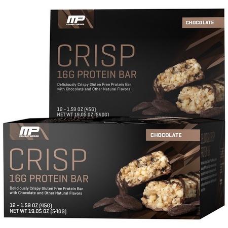MusclePharm Combat Crisp Bars Chocolate - 12 Bars (20% Off use code DPS10)