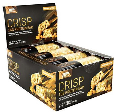 MusclePharm Combat Crisp Bars Peanut Butter - 12 Bars (20% Off use code DPS10)