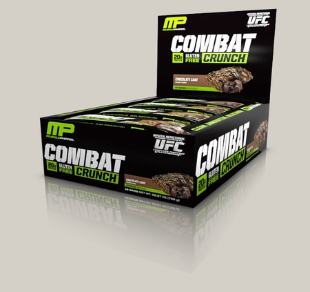 MusclePharm Combat Crunch Bars Chocolate Cake - 12 Bars (20% Off use code DPS10)